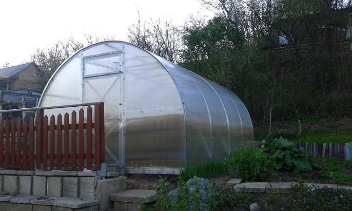 szklarnia z poliwęglanu w ogrodzie